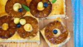 Tarta de piña con crema