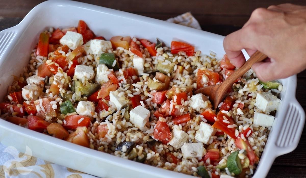 Cereales con verduras